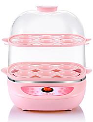Eierkocher Doppel-Eierstöpsel Neuheiten für die Küche 220V Niedlich Licht-Spannungsanzeige 2 in 1