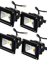 Jiawen 4pcs 10W LED Floodlight LED 800lm Cool White or Warm Whte Waterproof IP65 Outdoor lighting AC85-265V