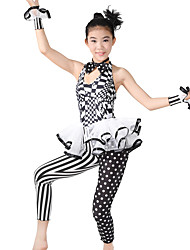 cheap -Jazz Unitards Women's Performance Polyester / Spandex Pattern / Print / Ruffles / Polka Dot Sleeveless Natural Leotard / Onesie / Headwear / Neckwear