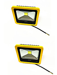 cheap -2pcs 20W Yellow Color LED Outdoor FloodLight IP65 3000K/6000K Waterproof LED Spotlight For Garage Garden AC85-265V
