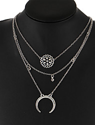 cheap -Women's Moon Shape Vintage Bohemian Pendant Necklace Jewelry Alloy Pendant Necklace Wedding Party Birthday Engagement Gift Daily Casual