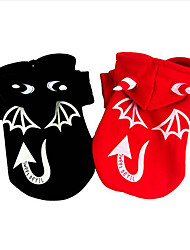 Chien Costume Vêtements pour Chien Halloween Ange et Diable Noir Rouge Costume Pour les animaux domestiques
