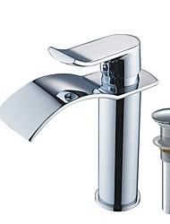 abordables -Set de centre Jet pluie Soupape céramique Mitigeur un trou Chrome, Robinet