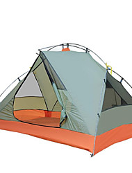 baratos -2 Pessoas Acessórios de Tenda Único Barraca de acampamento Ao ar livre Tenda Dobrada Prova-de-Água / A Prova de Vento / Respirável para