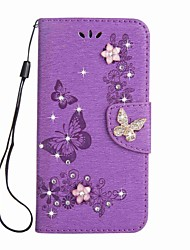 cheap -Case for Sony Xperia L1 XA1 Ultra Wallet Rhinestone Embossed Butterfly PU Leather Case for Sony XA1 E5 XZ XZs XA Ultre X compact XZ Premium
