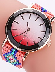 XU Women's  Bead Weaving Colorful Fashion Casual Wrist Watch