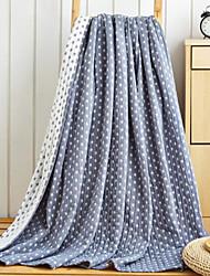Недорогие -Супер мягкий Геометрические линии Хлопчатобумажная ткань одеяла