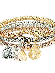 Women's Bangles Synthetic Diamond Animal Design Punk Rock Luxury Metallic Rhinestone Alloy Circle Leaf Jewelry For Party Graduation Daily