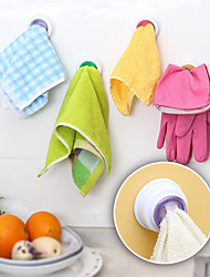 4Pc Set Washing Cloth Clip Hanger Sucker Holder Dishclout Storage Rack Bathroom Kitchen Storage Hand Towel Hook