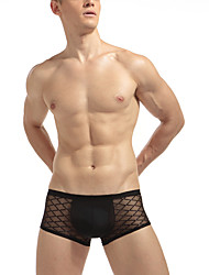 cheap -Men's Solid Translucent 1pc Black