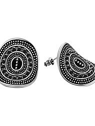 abordables -Mujer Pendientes cortos Zirconia Cúbica Obsidiana Negro Gema Diseño Básico estilo de Bohemia Estilo punk Ajustable Personalizado Terapia