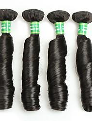 cheap -7A Brazilian Virgin Hair Bouncy Curly 4 Bundles Unprocessed Human Hair Bundles Virgin Brazilian Hair Weave