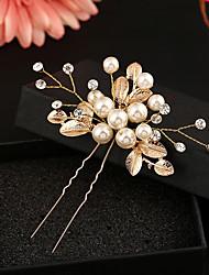 baratos -Imitação de Pérola Strass Liga Flores Cabelo da vara Capacete