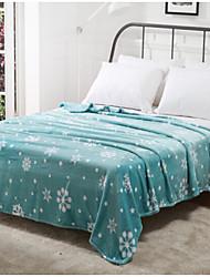 Недорогие -Коралловый флис Геометрические линии Смешанная хлопковая ткань одеяла