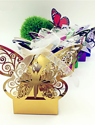 cheap -50pcs Butterfly Candy Box Gift Box Wedding Favors