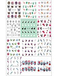 abordables -12pcs Décoration artistique / Rétro Autocollant Produits DIY 3D Modèle d'estampage d'ongles Quotidien Mode Haute qualité