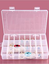 1pc 24 отсека прозрачные пластиковые шкафы для хранения ювелирных изделий