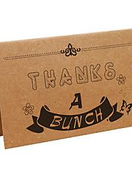 Kraft Thank You Cards-10 Piece/Set------Letter A
