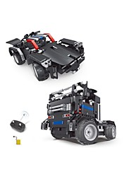 cheap -Remote Control RC Building Block Kit Toy Car Building Blocks Educational Toy Car Excavating Machinery Remote Control / RC DIY Boys' Toy