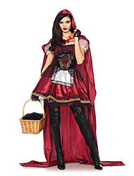 cheap -Little Red Riding Hood Cosplay Costume Masquerade Women's Halloween Carnival Festival / Holiday Halloween Costumes Red Other Vintage
