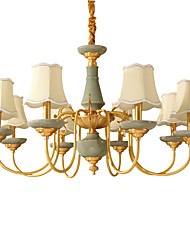 cheap -All Copper Chandelier Jade DecorativeLiving Room Chandelier KP8