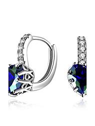 cheap -Women's Luxury Cubic Zirconia Synthetic Diamond Zircon Emerald Clip Earrings - Luxury Natural Multi-ways Wear Hip-Hop Christmas Geometric