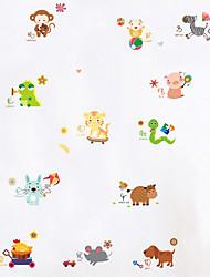 Недорогие -Животные Мода Цветочные мотивы/ботанический Наклейки Простые наклейки Декоративные наклейки на стены 3D, пластик Украшение дома Наклейка