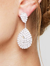 cheap -Women's Drop Earrings Rhinestone Bridal Elegant Luxury Rhinestone Silver Plated Drop Teardrop Jewelry For Wedding Party Anniversary Gift