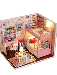 cheap -Dollhouse Model Building Kits Toys DIY Wood Princess 1 Pieces Kids Birthday Gift