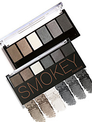 preiswerte -Lidschattenpalette Matt Schimmer Lidschatten-Palette Puder Smokey Makeup
