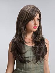 Enchanting  Oblique Fringe Ombre Color Long  Hair Synthetic Wigs