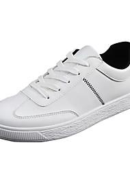 Masculino Tênis Solados com Luzes Couro Ecológico Primavera Outono Casual Caminhada Cadarço Rasteiro Branco Branco/Preto Vermelho/Branco5