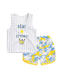 Baby Kids' Daily Geometic Clothing Set Summer