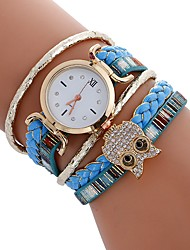 cheap -Women's Kid's Sport Watch Fashion Watch Wrist watch Bracelet Watch Unique Creative Watch Casual Watch Chinese Quartz Owl Style Colorful PU