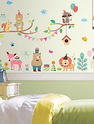 Animali Floreale/Botanical Cartoni animati Adesivi murali Adesivi aereo da parete Adesivi decorativi da parete MaterialeDecorazioni per