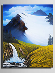 Mini Size E-HOME Oil painting Modern The Beauty Of The Valley Pure Hand Draw Frameless Decorative Painting
