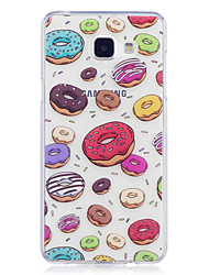cheap -Case For Samsung Galaxy A3 (2017) A5 (2017) Case Cover Dessert Pattern Painted High Penetration TPU Material IMD Process Soft Case Phone Case
