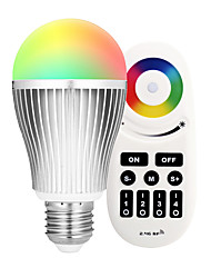 cheap -9W E27 LED Smart Bulbs A60(A19) 18 leds SMD 5730 Infrared Sensor Dimmable Remote-Controlled WIFI APP Control Light Control RGB+Warm 900lm