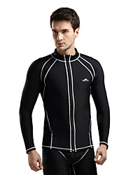 cheap -SBART Men's Diving Rash Guard Stretchy UV resistant Chinlon Long Sleeves Top Diving Surfing