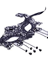 Недорогие -Маски на Хэллоуин Товары для вечеринки Кружевная маска Игрушки Для вечеринок Новинки Кружева Ужасы Куски Женские Хэллоуин Подарок