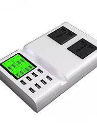 Chargeur USB 8 Ports Station de chargeur de bureau Stand Dock Avec identification intelligente Affichage LCD Prise US Prise UE Adaptateur