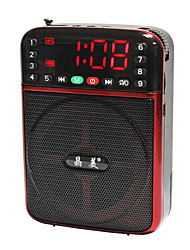 JM9015 Tragbares Radio MP3-Player TF-KarteWorld ReceiverRot