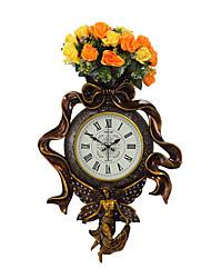 Moderne/Contemporain Traditionnel Rustique Décontracté Rétro Religion & Source d'Inspiration Horloge murale,Horloge Dessin Animé Résine