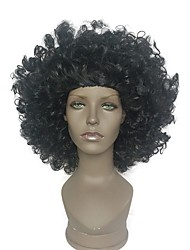 Недорогие -Афроамериканские черные афро парики жаростойкие кудрявые фигурные парики женщины 8 дюймов