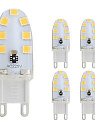 2W G9 Luci LED Bi-pin T 14 leds SMD 2835 Bianco caldo Luce fredda 180lm 2800-3500;5000-6500K AC 220-240V