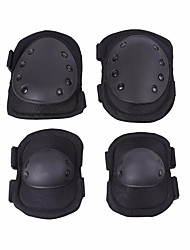 cheap -4pcs Tactical Knee Pad Elbow Pad Safety Pad Elbow Knee Protective Gear Safeguard Durable Comfortable for Outdoor Sports