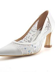 Da donna scarpe da sposa Decolleté Di pizzo Paillette Maglia traspirante A rete Seta Tulle Estate AutunnoMatrimonio Formale Serata e