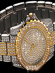 cheap -Women's Pave Watch Simulated Diamond Watch Bracelet Watch Fashion Watch Japanese Quartz Colorful Imitation Diamond Stainless Steel Band