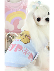 cheap -Dog Vest Dog Clothes Cartoon Blue Pink Cotton Down Costume For Pets Casual/Daily