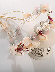 cheap -Basketwork Imitation Pearl Fabric Headbands Flowers 1 Wedding Special Occasion Birthday Party / Evening Headpiece